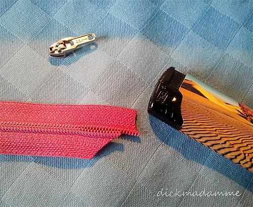 Endlosreißverluss Zipper einfädeln Tipp Tutorial Anleitung farbenmix
