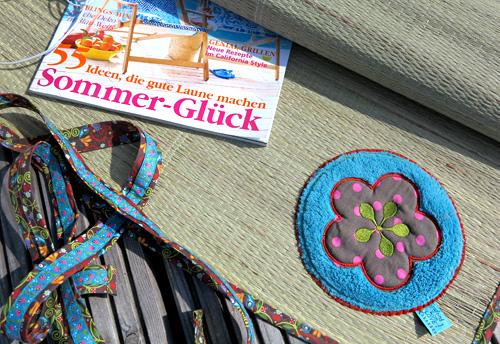 Strandmatte nähen, Anleitung, Webband, farbenmix.de