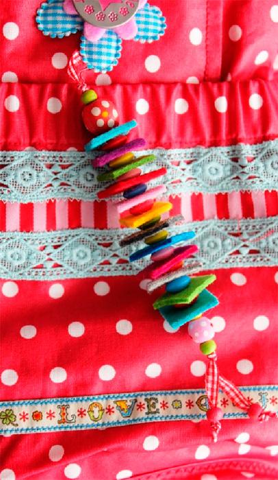 Filzanhänger Anfänger Schmuck Taschen Schlüsselanhänger farbenmix
