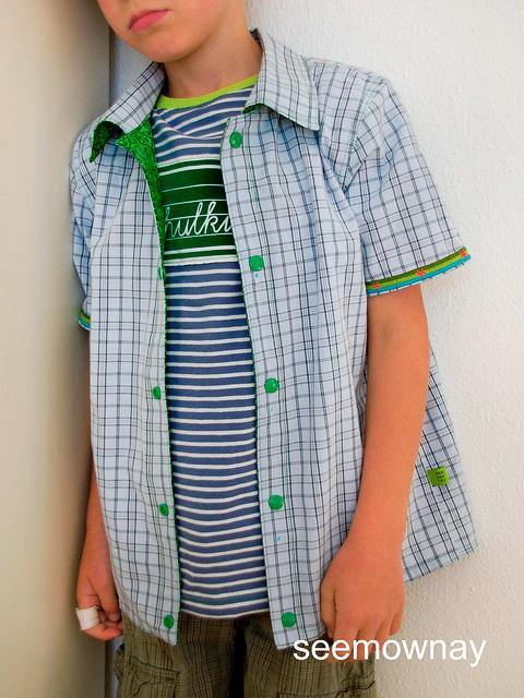 GuteNacht Hemd Schnittmuster Jungs farbenmix