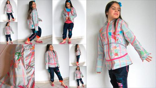 ORELLA Jacke Schnittmuster Mädchen farbenmix
