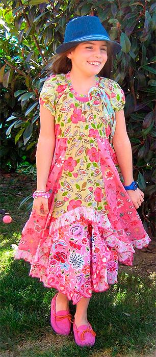 Encinitas Schnittmuster Kleid Sommerkleid Mädchen farbenmix