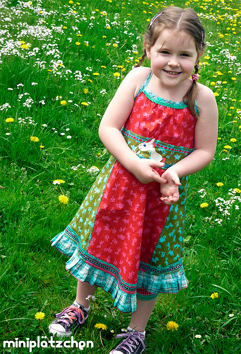 VENTURA Schnittmuster Kleid farbenmix
