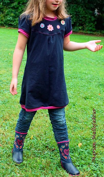 KleinFANÖ Schnittmuster Shirt Kleid Tunika farbenmix