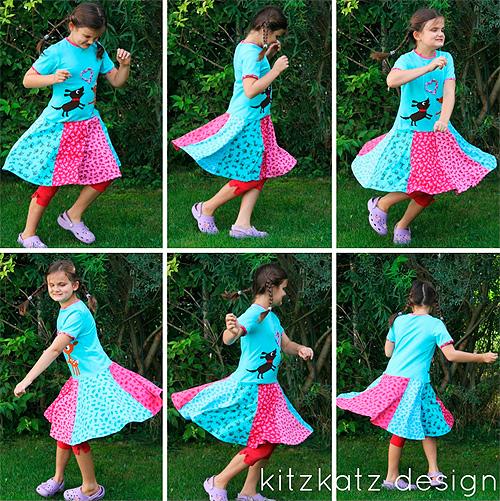HENRIKA Schnittmuster Kleid Mädchen farbenmix
