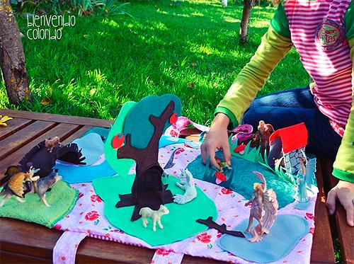 Feenland zum Mitnehmen Spielzeug nähen farbenmix