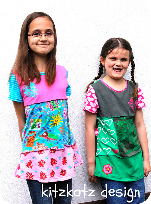 LENI Schnittmuster Shirt Mädchen selber nähen farbenmix