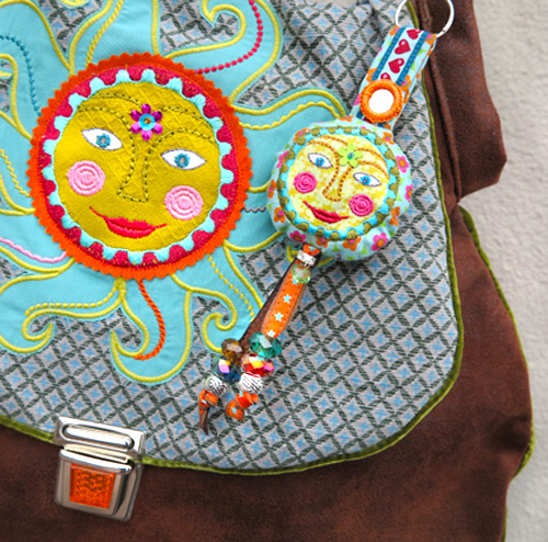 Sonne, sticken, Stickmaschine, nähen, farbenmix.de, kunterbuntdesign.de