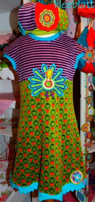 AMELIE Schnittmuster Tunika Kleid Mädchen nähen farbenmix