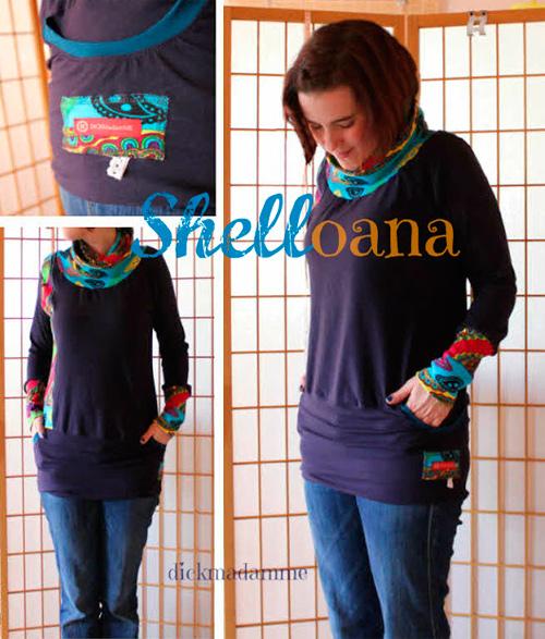 SHELLY JOANA Schnittmuster Shirt Damen farbenmix