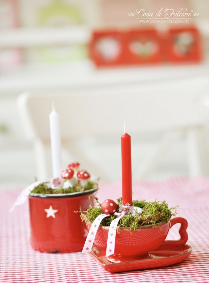 Weihnachtsdeko mit Webband, Webbänder, farbenmix.de