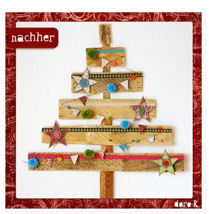 Tannenbaum aus Holzlatten, selbermachen, farbenmix.de