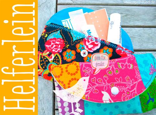 Tutorial Täschchen aprilkind Anleitung gratis kostenlos farbenmix