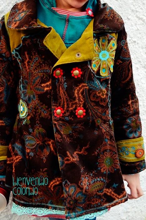 MARILUZ Schnittmuster Mantel Mädchen farbenmix