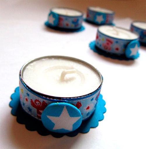 Teelicht Tutorial Webband Stylefix Kleinigkeit farbenmix