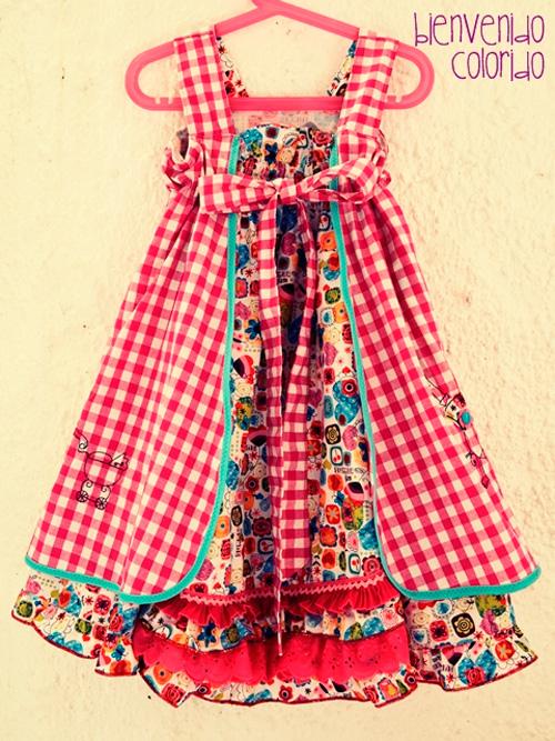 FeliZ Kleid Schnittmuster Mädchen nähen farbenmix