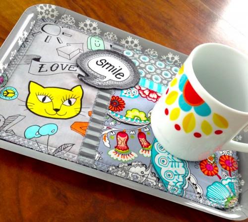 Nähanleitung für einen Miniquilt, Tablett Deckchen, farbenmix.de