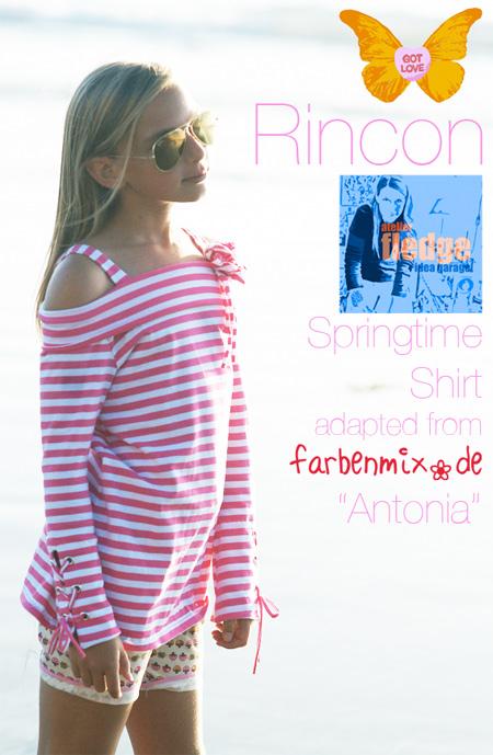Schulterfreies Shirt nähen, Schnittmuster und Anleitung