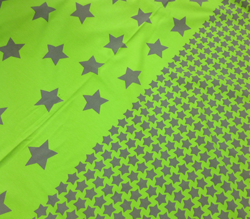 Sternen-Jersey, grün, grau, blau und rot