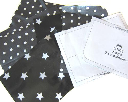 Tasche für Taschentücher, Schnittmuster und Nähanleitung