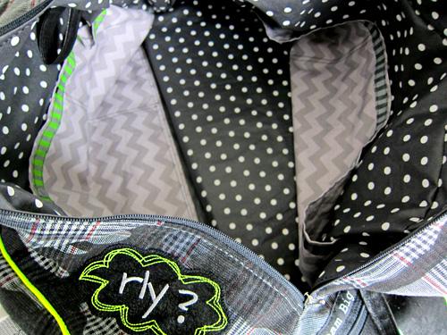 Taschenfutter mit Taschen, Anleitung auf der farbenmix-CD