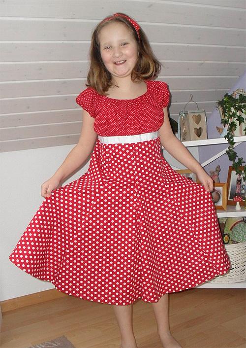 Sommerkleid oder Festkleid selber nähen für Mädchen Prizessinenkleid von farbenmix