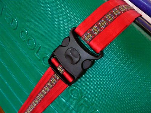 Einen Koffergurt selbernähen mit Webband und Gurtband. Schritt-für-Schritt Fotoanleitung