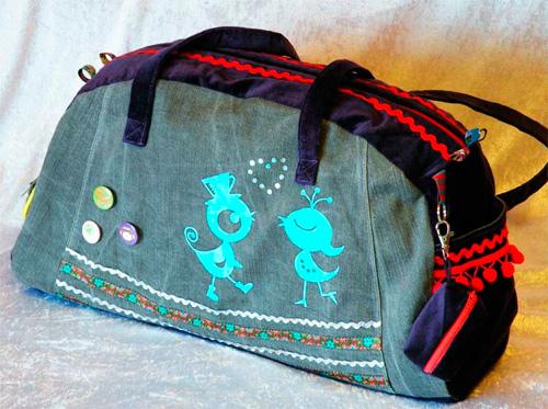 Weekender-Taschen oder Sporttasche selber nähen nach dem Kreativ-Ebook von farbenmix