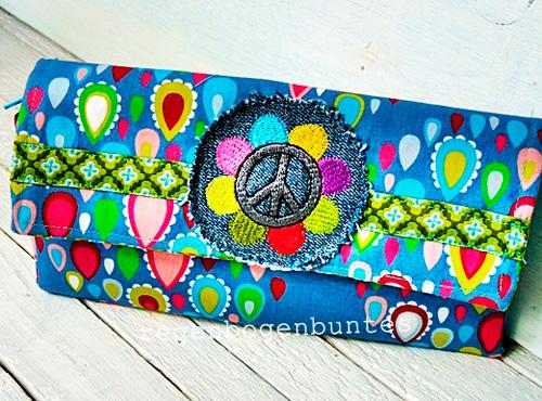 Geldbörse Geldtasche nach dem gratis Schnittmuster Wildspitz von farbenmix