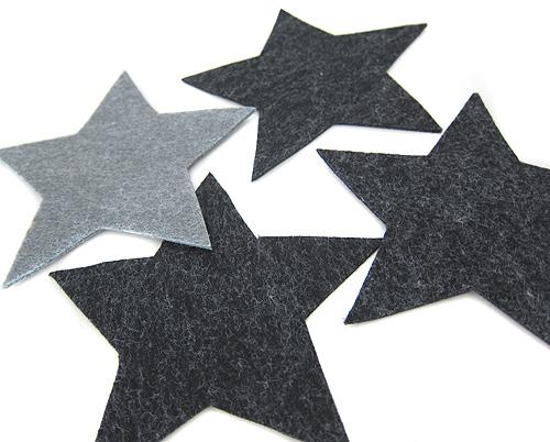 Sterne und Aufnäher aus einfachen Formen schneiden und nähen