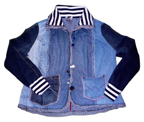 Jeansjacke nach dem Schnittmuster JACKIE für Damen nähen farbenmix