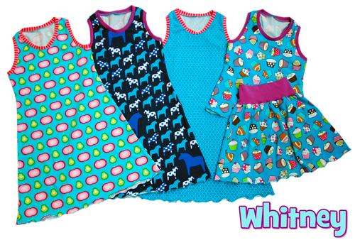 Strandkleid für den Urlaub nach dem Schnittmuster Whitney für Mädchen von farbenmix selber nähen