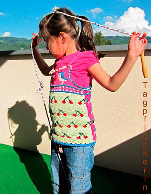 Oberteil Top Shirt Mädchen stricken Anleitung Muster Kreativ-Ebook farbenmix