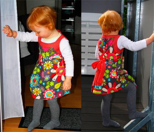 Sommerkleid Schnittmuster Anleitung Kleidchen Kleinkind selber nähen farbenmix
