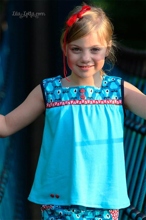 Bluse Hemd Schnittmuster Shirt Hose farbenmix selber nähen für Mädchen