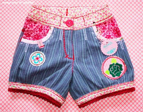 Sommershort kurze Hose für Mädchen UNELLA-BLOMMA von farbenmix selber nähen