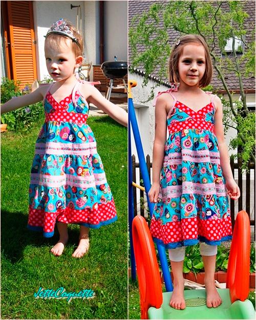 Strandkleid Sommerkleid leicht luftig Schnittmuster Anleitung farbenmix selber nähen