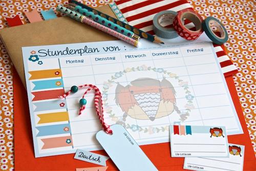 Schulsachen herunterladen und drucken, Lilalotta Grafik