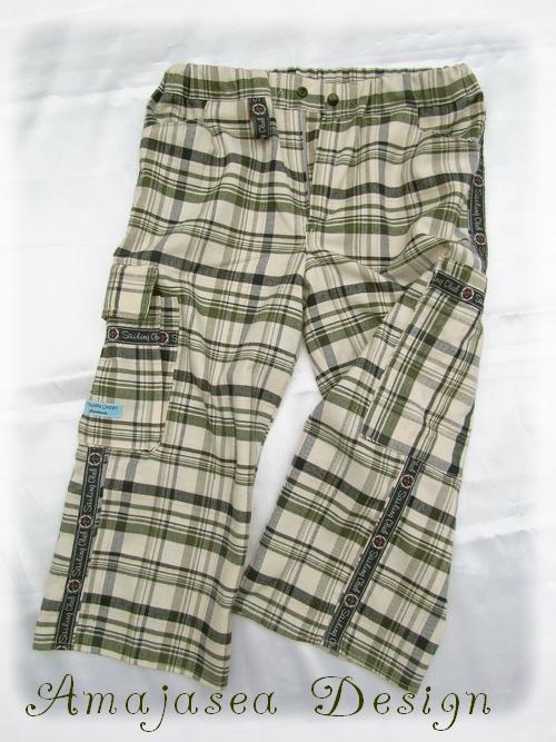 Hose Sommerhose Cargohose 3/4tel-Hose kurze Hose Jungs Mädchen farbenmix selber nähen