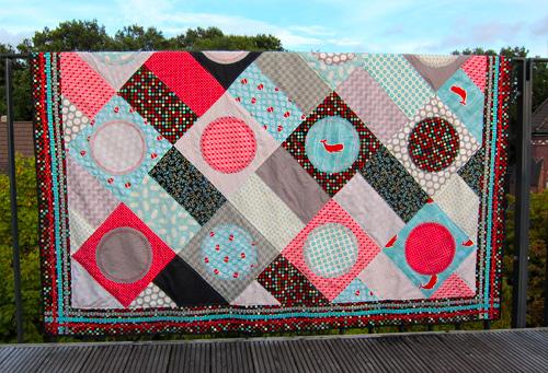 patchworkdecke, ganz einfach » quilt, stoff, reihen  ~ Bücherregal Quilt Anleitung