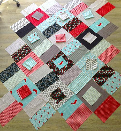 Muster eines Quilts planen und zuschneiden