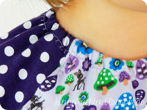 Halsbündchen Halsausschnitt Schnittmuster Shirt Tutorial Anleitung farbenmix