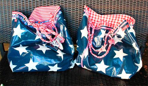 Beachbag Shopper Einkaufstasche Strandtasche Schultertasche Schnittmuster farbenmix selber nähen