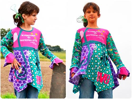 Shirt Oberteil Zipfelshirt Drehoberteil Langarm-Shirt Schnittmuster farbenmix