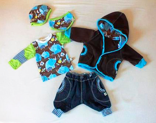Babykollektion Schnittmuster Babykleidung selber nähen Kleinkindkleidung Kleidchen farbenmix