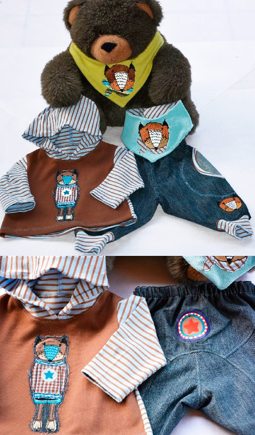 Babykollektion Schnittmuster Babykleidung selber nähen Kleinkindkleidung farbenmix