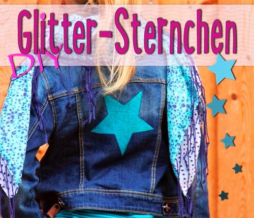 Gltzer Sterne Applikationen selber nähen Tutorial DIY Anleitung kostenlos gratis