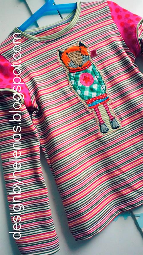 Shirt ANTONIA Oberteil Anleitung Schnittmuster Mädchen farbenmix selber nähen