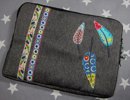 Aufnähen von Webbändern für Taschen und Deko