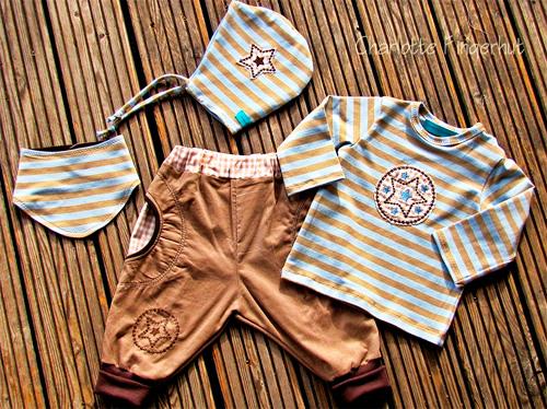 Babykombi für Jungs nach dem Schnittmuster Zwergenverpackung Vol.II von farbenmix